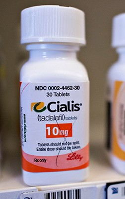 Cialis 50 mg Brand Lilly - bottle of 10 pills D